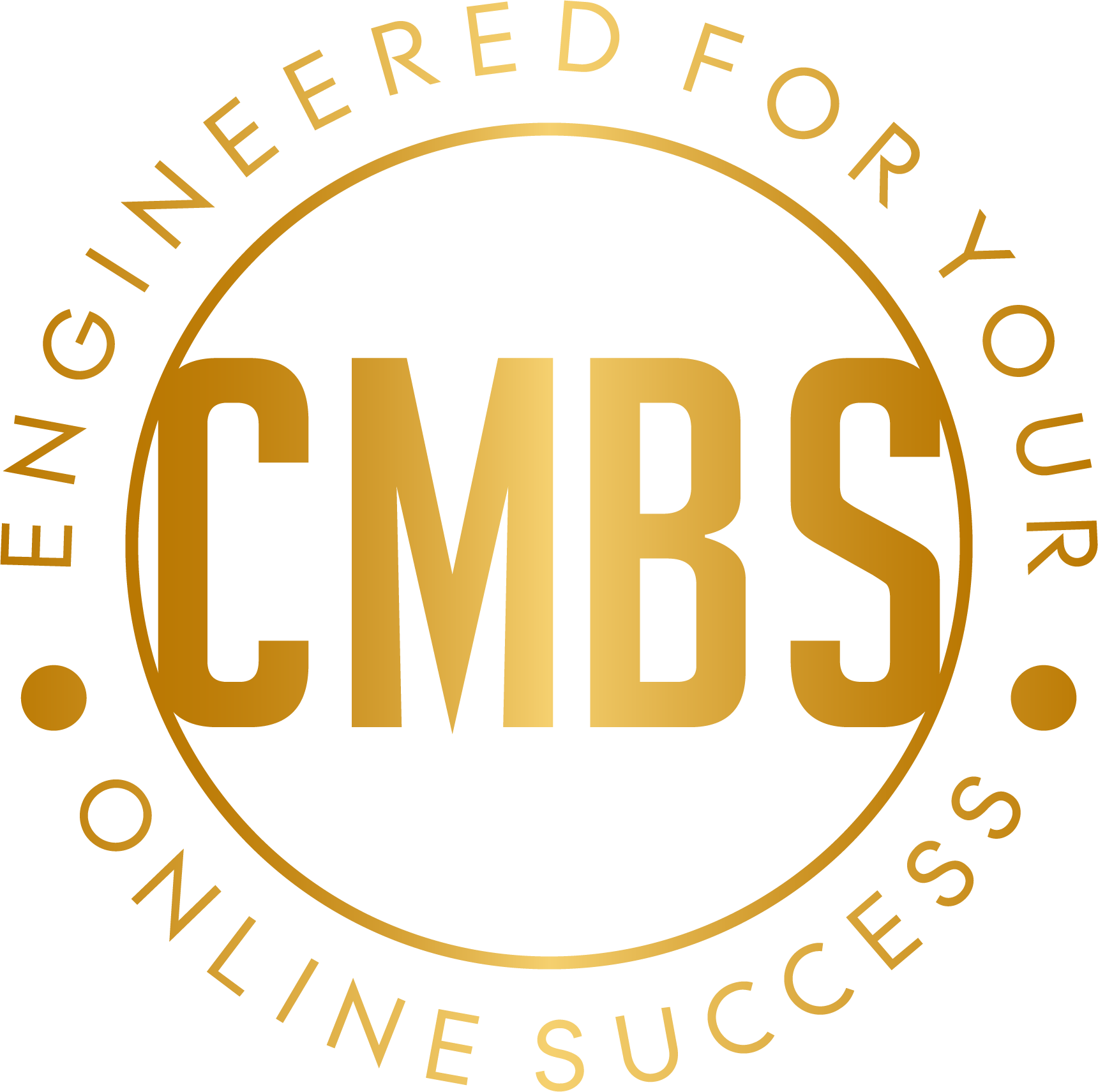 CMBS letters encircled by Engineered for Your Online Success